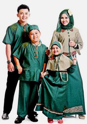 baju couple keluarga untuk pesta hijau
