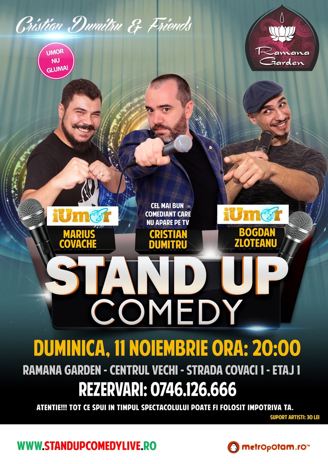 Stand-Up Comedy Bucuresti Duminica 11 Noiembrie