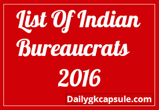 List Of Indian Bureaucrats Feb 2016 - Download Office Holders In India 2016 Pdf For Bank Exams