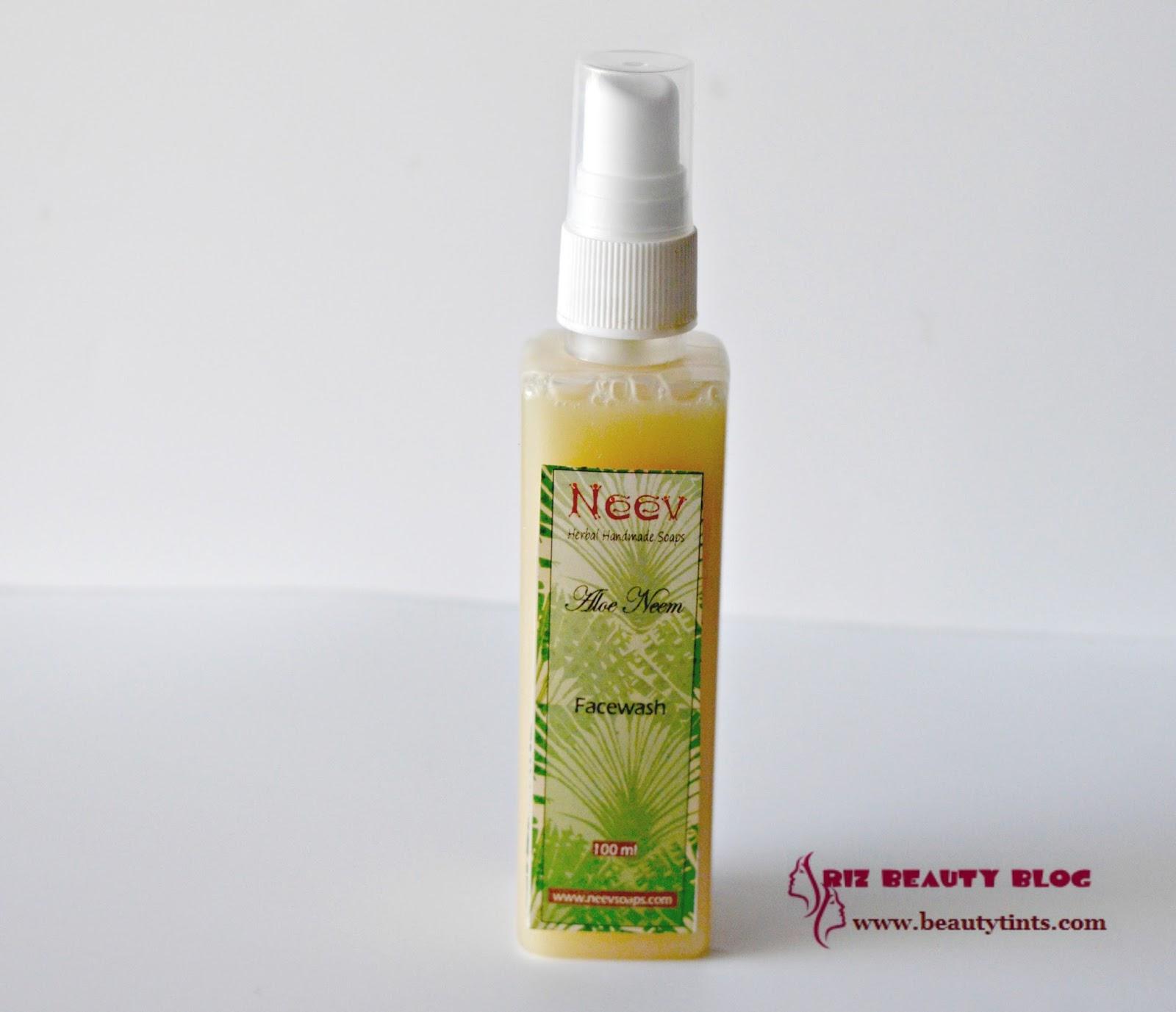 Sriz Beauty Blog  Neev Aloe Neem Face Wash Review!!! 41da4e0abd9
