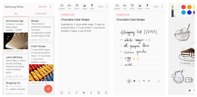 Download Samsung Notes mobile apps