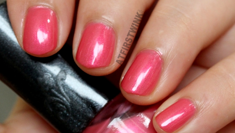 Sasa sasatinnie nail polish swatch bright metallic pink