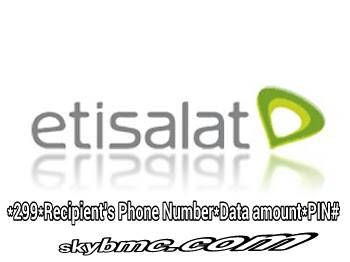 Transfer Etisalat Data