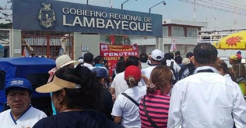 Trabajadores GRE Lambayeque acatarán paro de 48 horas