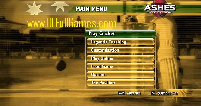 Ashes Cricket 2009 Game - Free Download Full Version For PC