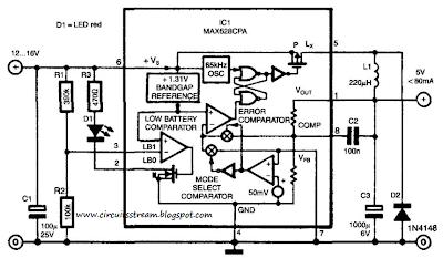 Simple Switch-Mode Voltage Regulator Circuit Diagram