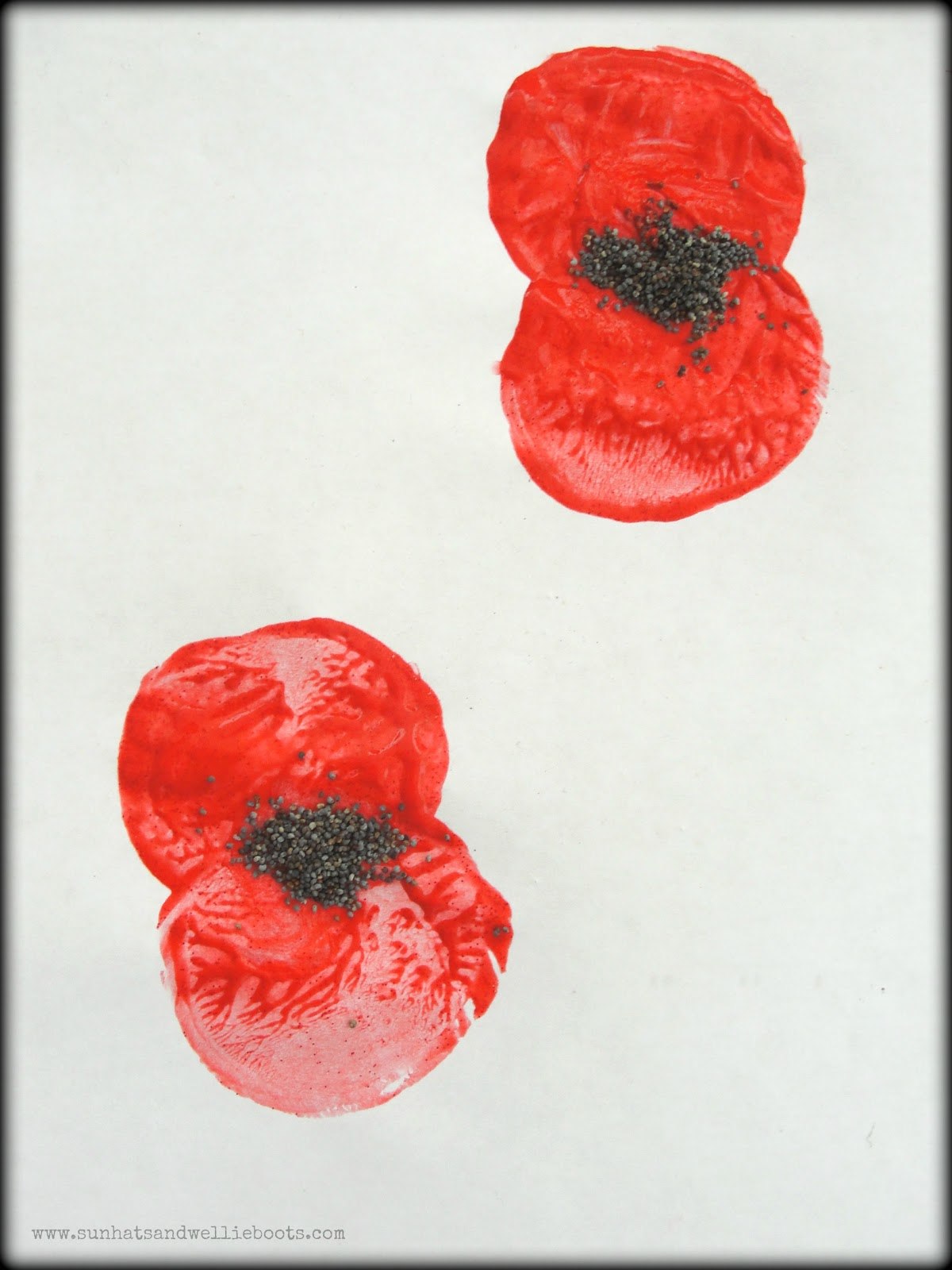 Sun Hats Amp Wellie Boots Remembrance Poppy Prints