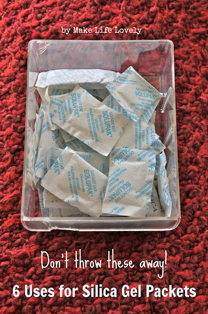 Ways to reuse silica gel packets