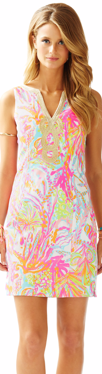 LILLY PULITZER JANICE SHIFT DRESS RESORT WHITE
