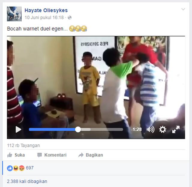 MIRIS..!! Video Gara-gara Game Online, Dua Bocah Banjar Adu Jotos di Warnet Viral di Sosmed