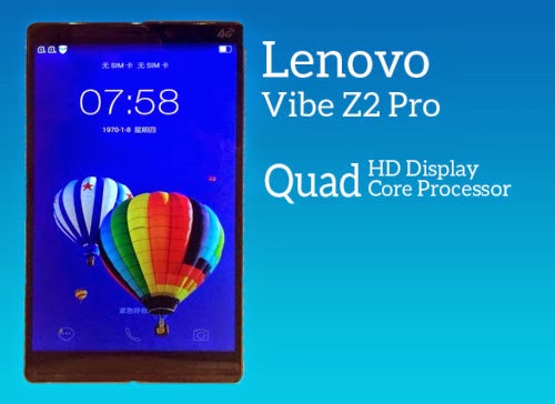 Harga Lenovo Vibe Z2 Pro K920, Spesifikasi Monster Layar Quad HD Display