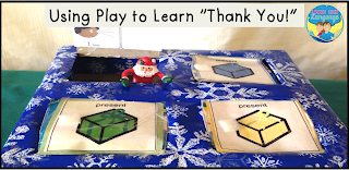 Using shoebox to teach children to say thanks! Looks Like Language