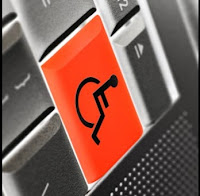image of a computer keyboard key displaying a handicapped symbol on top
