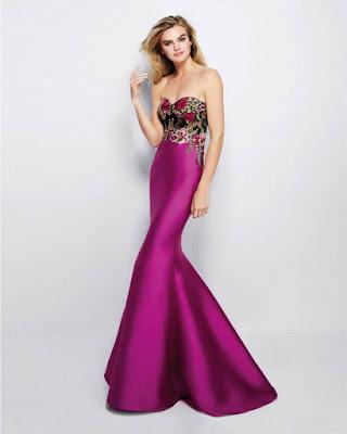 vestido entallado largo lila elegante tumblr de moda