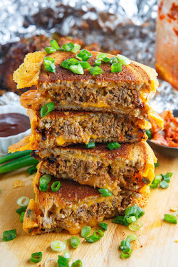 Korean Meatloaf Patty Melt