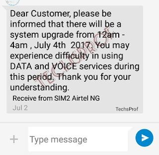 Airtel Informs Users On Upcoming Upgrade