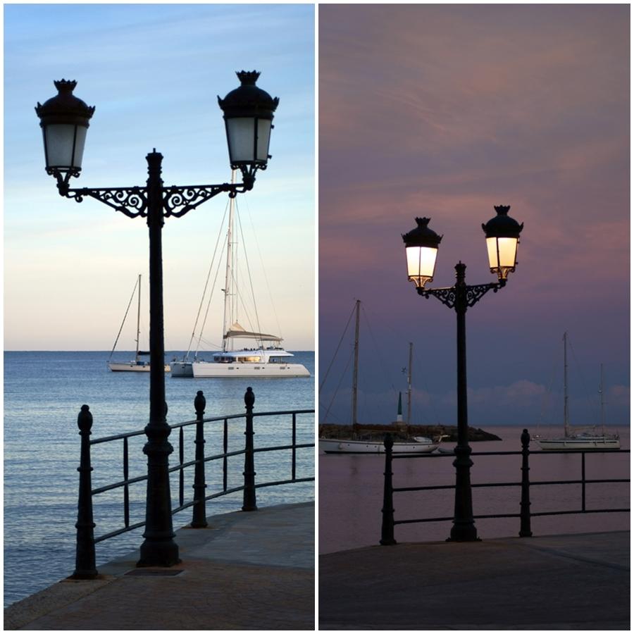 Blog + Fotografie by it's me! - Reisen - La Isla Blanca Ibiza, Santa Eularia - Laternen in der Abenddämmerung, in der blauen Stunde
