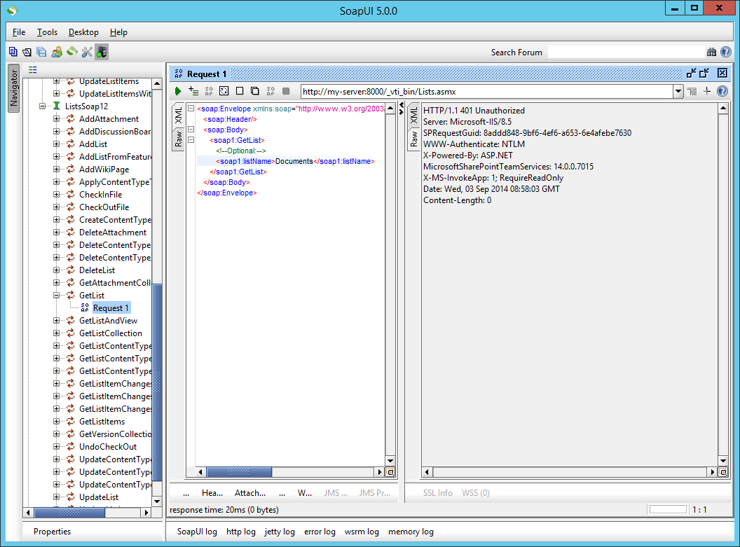 Share That Point: Using SoapUI to test SharePoint web services