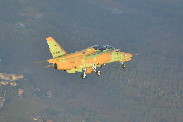 First production M-345 maiden flight