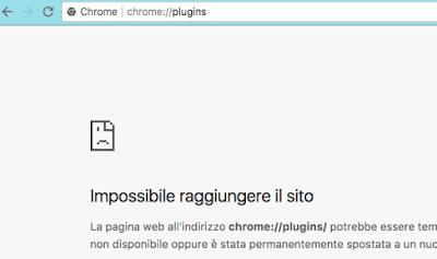 chrome://plugins non funziona