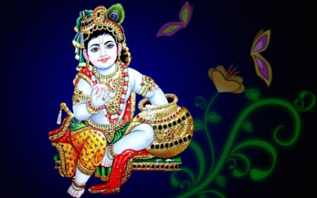 bal krishna image hd wallpaper