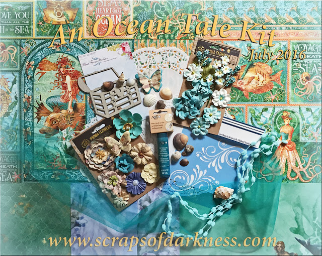 Scraps of Darkness July 'An Ocean Tale' Kit