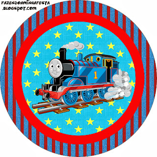 Toppers.Thomas the Train Toppers or Free Printable Candy Bar Labels.