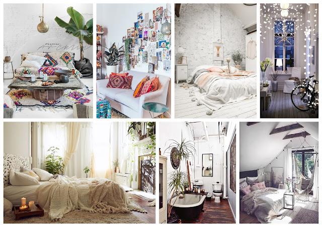 Textile candy, bohemian decor, bohemian interior, decor, white washed, wooden floor