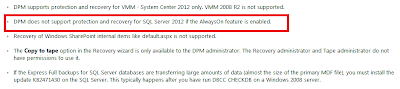 DPM 2012 RTM release notes