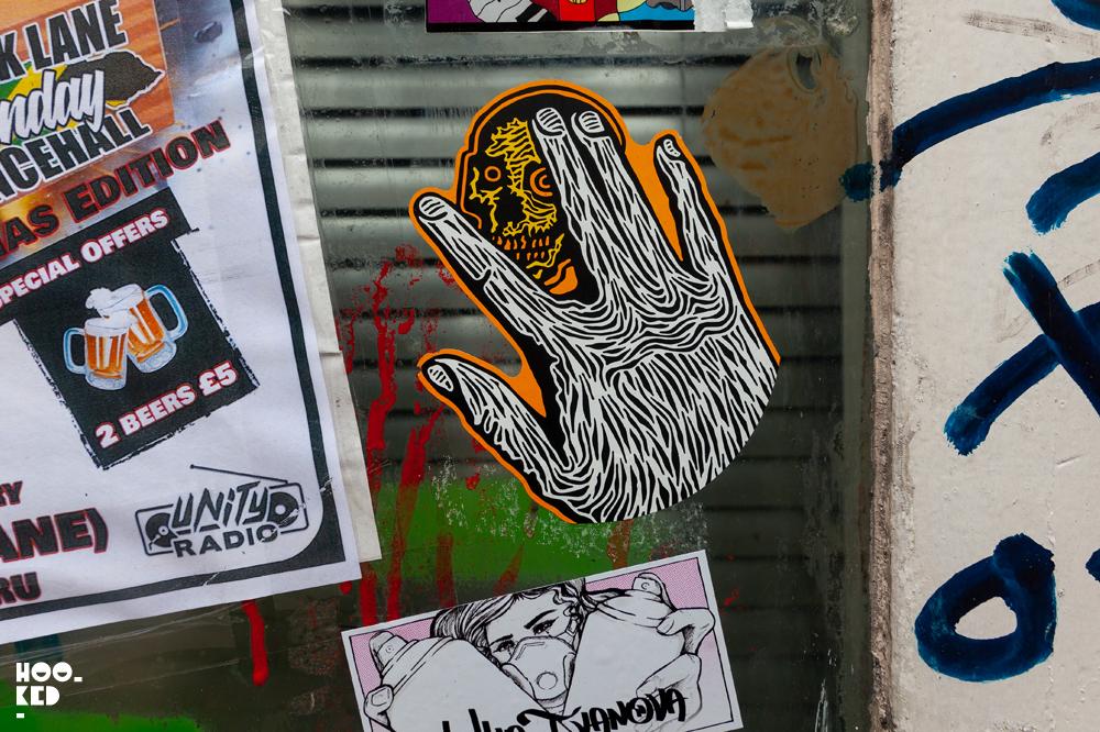 Stick it up: Shoreditch Street Art Stickers featuring RxSkulls