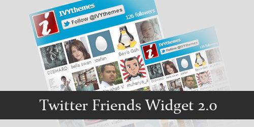 Twitter Friends Widget ver 2.0
