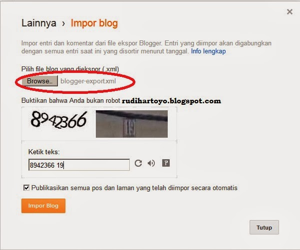 impor wordpress ke blogspot