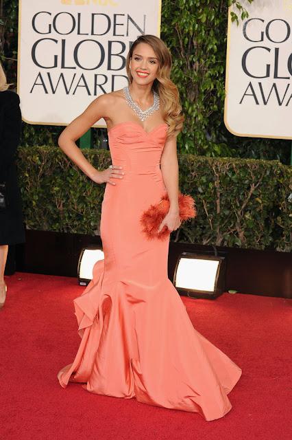 Celeb Diary Jessica Alba 2013 Golden Globe Awards