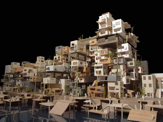 建築は模型も面白い。想像力溢れ...
