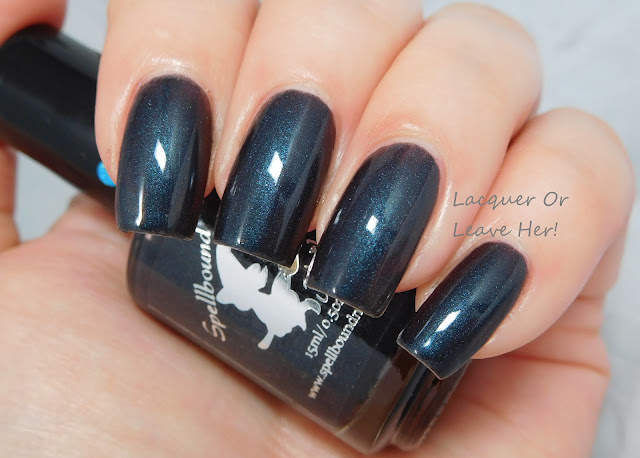 Spellbound Nails Tom Riddle's Diary with topcoat