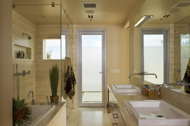 Photo of modern bathroom in the house