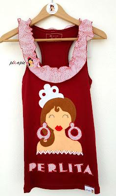Camiseta flamenca Perlita Pikapic