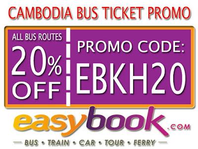 Diskon 20% Pembelian Tiket Bus Kamboja Via Easybook