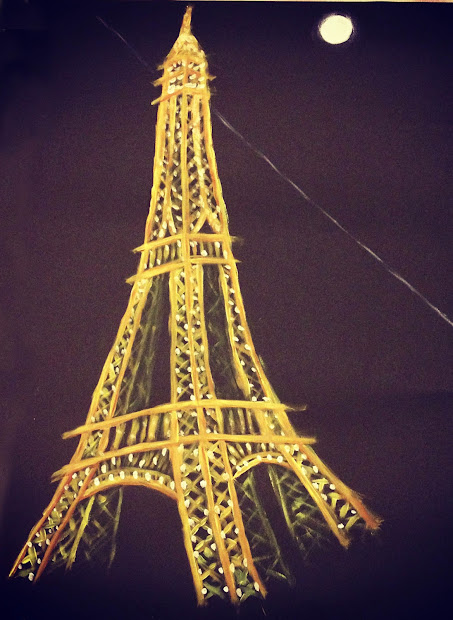 Mandy Bohgan January' Doodling And Painting Of Eiffel Tower