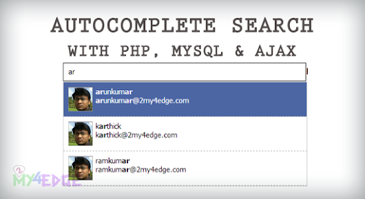 Autocomplete search using php, mysql and ajax