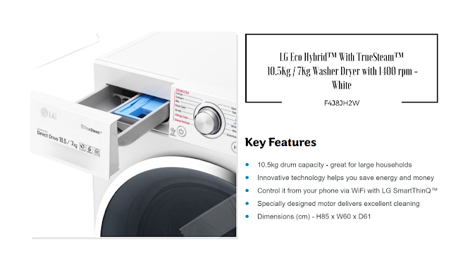 Review Lg Eco Hybrid With Truesteam F4j8jh2w 10 5kg