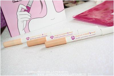 correttore matita nascondino, double precision concealer , neve cosmetics