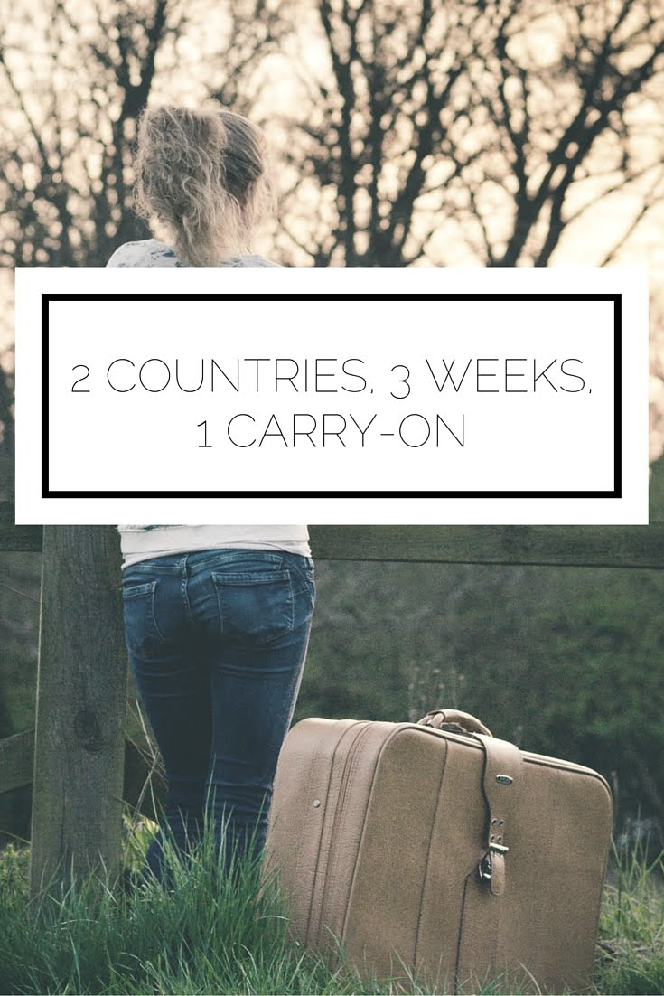 Click to read now or pin to save for later! How to make it through 2 countries, in 3 weeks, with only 1 carry-on!