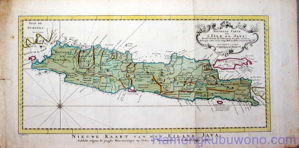Gambar Peta Jawa Modern - Nouvelle carte de l'isle de Java Karya E. van Harrevelt 1773