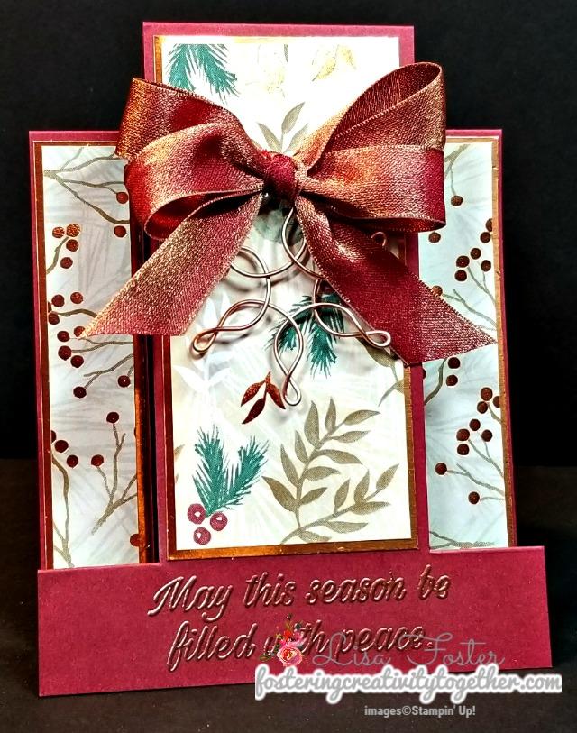 Fun fold, Joyous Noel, Christmas Card, center step fold, stampin up