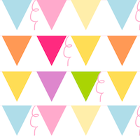 free party bunting pattern