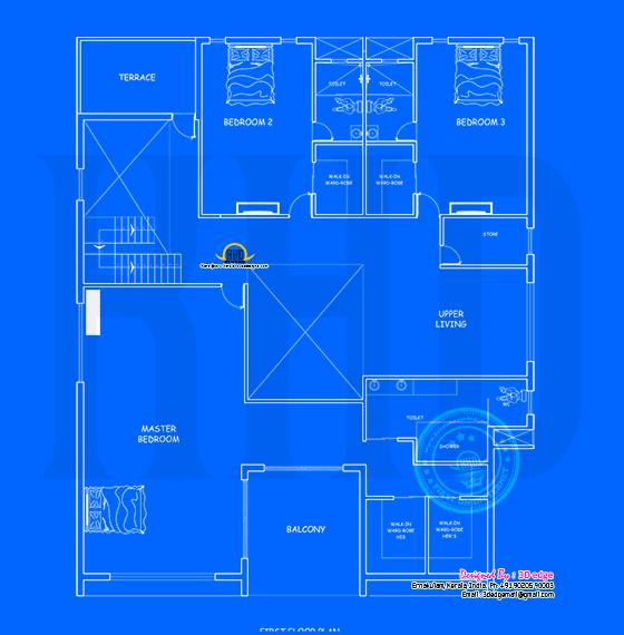 First floor blueprint