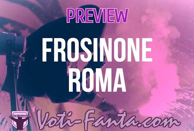 Preview Frosinone Roma: probabili formazioni, infortunati, ultime notizie