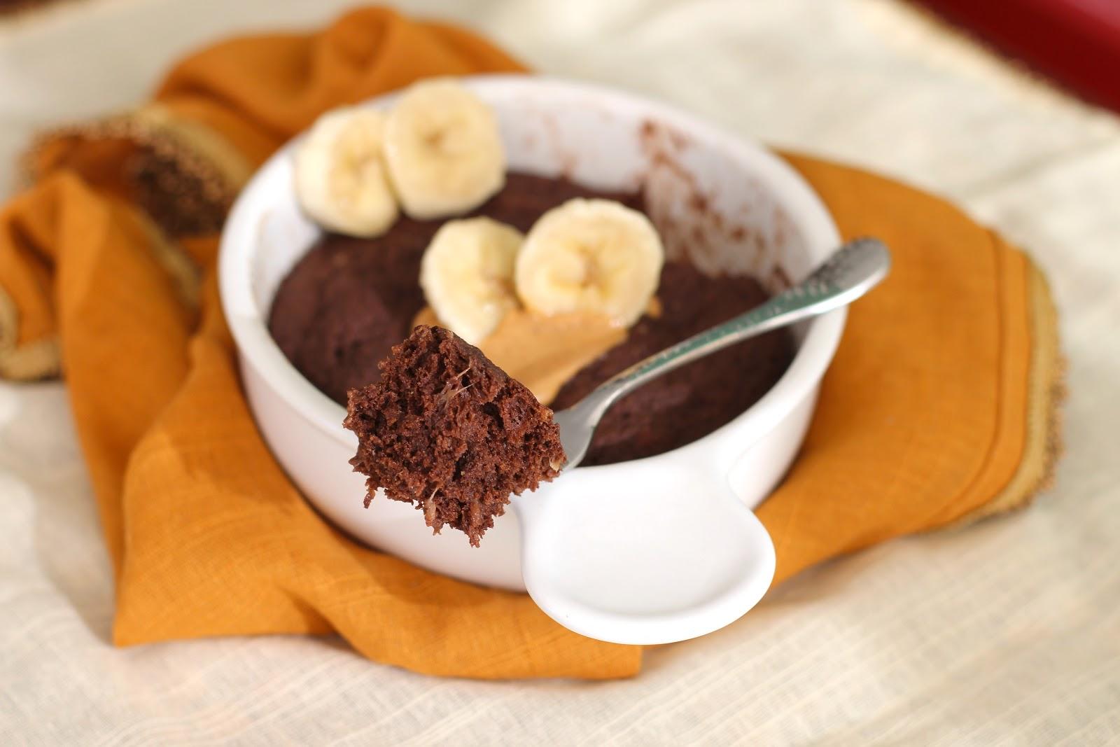 Healthy Single Serving Chocolate Peanut Butter Banana