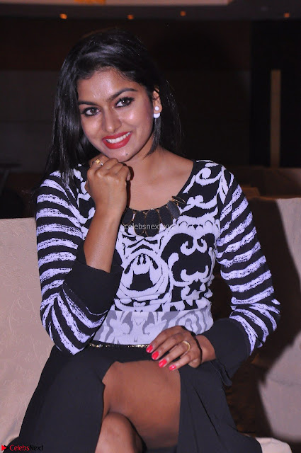 Akshatha in a lovely Leg Split Black Gown Cross legged Latest Stills 04.JPG